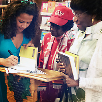 Book signing as Sea Grapes bookstore